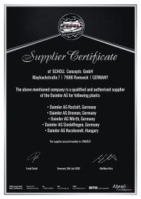 Επίσημος προμηθευτής Daimler Group